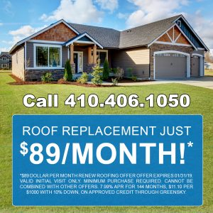 Roof Replacement $89 Per Month